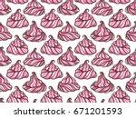 french meringue cookies... | Shutterstock .eps vector #671201593
