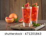 grapefruit lemonade and cola... | Shutterstock . vector #671201863