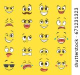 Cartoon Emotions With Funny...