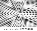 abstract halftone dotted... | Shutterstock .eps vector #671233237