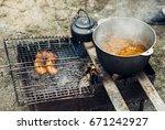 roadside picnic | Shutterstock . vector #671242927