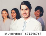 successful young businessman... | Shutterstock . vector #671246767