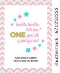 twinkle  twinkle  little star ... | Shutterstock .eps vector #671252233
