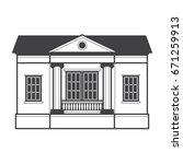graphic illustration of a bank  ... | Shutterstock .eps vector #671259913