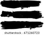 grunge paint stripe . vector... | Shutterstock .eps vector #671260723