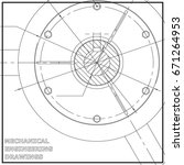 mechanical engineering drawings.... | Shutterstock . vector #671264953