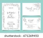 wedding invitation card... | Shutterstock .eps vector #671269453
