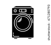 washer machine icon. simple... | Shutterstock .eps vector #671280793