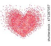 vector confetti splash in the... | Shutterstock .eps vector #671287357