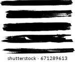 grunge paint stripe . vector... | Shutterstock .eps vector #671289613