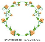 round decorative frame with... | Shutterstock .eps vector #671295733