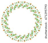 round decorative frame with... | Shutterstock .eps vector #671295793
