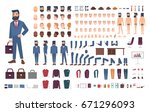 businessman character... | Shutterstock .eps vector #671296093