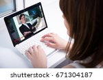 video blog concept   young... | Shutterstock . vector #671304187