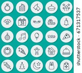 new icons set. collection of... | Shutterstock .eps vector #671317537