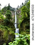 wonderful  cascade multnomah... | Shutterstock . vector #671348533