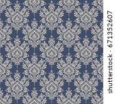 seamless background baroque...   Shutterstock .eps vector #671352607