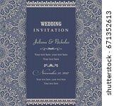 wedding invitation cards... | Shutterstock .eps vector #671352613