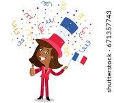 vector cartoon illustration of... | Shutterstock .eps vector #671357743