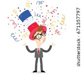 vector cartoon illustration of... | Shutterstock .eps vector #671357797
