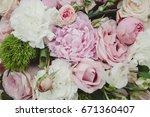 wedding flowers  flower bouquet ...   Shutterstock . vector #671360407