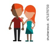 avatars of traditional couple... | Shutterstock .eps vector #671370733