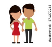 avatars of traditional couple... | Shutterstock .eps vector #671372263
