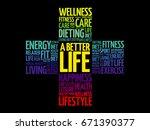 a better life word cloud ... | Shutterstock .eps vector #671390377