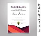 certificate template   modern... | Shutterstock .eps vector #671391427