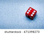 a lucky role of six on a... | Shutterstock . vector #671398273