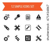 set of 12 editable tool icons....