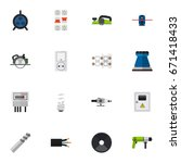 set of 16 editable electric...