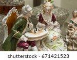 porcelain figurine  antique... | Shutterstock . vector #671421523