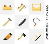 set of 9 editable tools icons....