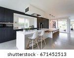 black   white minimalistic... | Shutterstock . vector #671452513