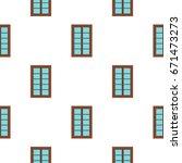 wooden brown latticed window