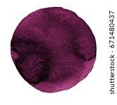 watercolor abstract deep purple ... | Shutterstock . vector #671480437
