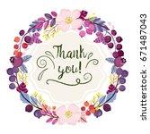 vector wreath of berries and... | Shutterstock .eps vector #671487043