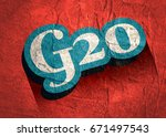 g and 20 letter and number... | Shutterstock . vector #671497543