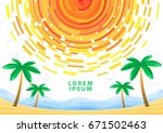 brochure with abstract sun  sea ... | Shutterstock .eps vector #671502463