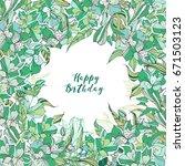 happy birthday greeting flyers... | Shutterstock .eps vector #671503123