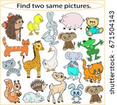 find two same pictures ... | Shutterstock .eps vector #671504143