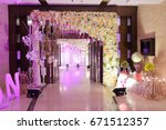 wedding decoration element.... | Shutterstock . vector #671512357