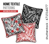 pattern and set of 3 matching... | Shutterstock .eps vector #671516077