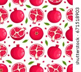 vector seamless pattern with... | Shutterstock .eps vector #671518903