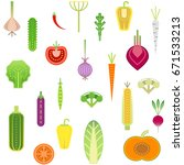 seamless trendy pattern with... | Shutterstock .eps vector #671533213