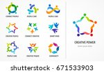 people  community  creative hub ... | Shutterstock .eps vector #671533903