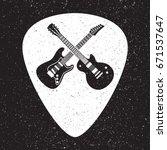 rock fest guitars badge label.... | Shutterstock .eps vector #671537647