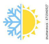 winter and summer icon. vector... | Shutterstock .eps vector #671540527