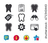 tooth enamel protection icons....